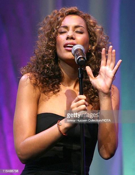 Television talent show 'XFactor' winnner Leona Lewis sings at the 'Prince's Trust Celebrate Success Awards at the Barbican central London on Thursday...