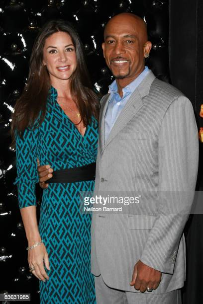 Television talk show host Montel Williams and wife Tara Fowler attend the 2008 Bideawee StarPet event at the Edison Ballroom on November 10 2008 in...