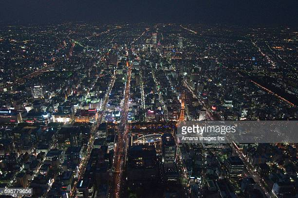Television Tower and Meieki, Nagoya, Aerial view