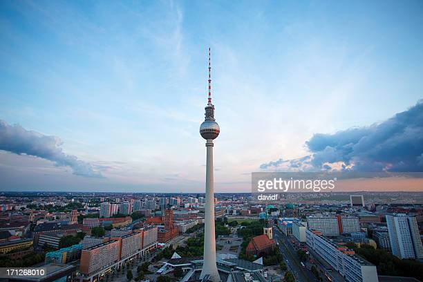 Television Tower Berlin Sunset