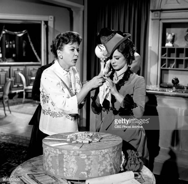 CBS television western series Hotel de Paree Episode Sundance and the Boat Soldier Pictured is director Ida Lupino with Judi Meredith Originally...