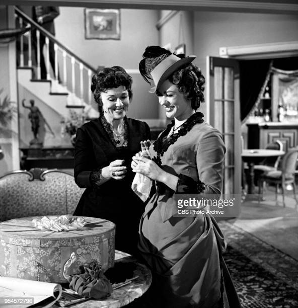CBS television western series Hotel de Paree Episode Sundance and the Boat Soldier Pictured is Left to right Jeanette Nolan and Judi Meredith...