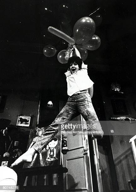 2nd August 1965 English actress Amanda Barrie having fun with balloons Amanda Barrie born 1936 has had a long career as an actress in the 1960's she...