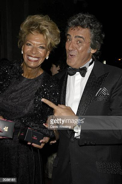 Television's 'Bargain Hunt' presenter David Dickinson and international cabaret star wife Lorne Lesley attending the Radio Times BAFTA television...