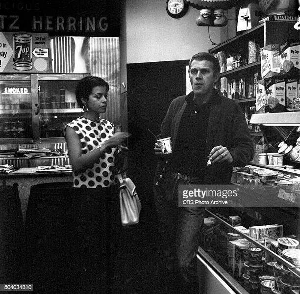 Televisions Wanted Dead or Alive actor Steve McQueen and his wife Neile Adams visit his old haunts in Greenwich Village NY Image dated May 6 1960