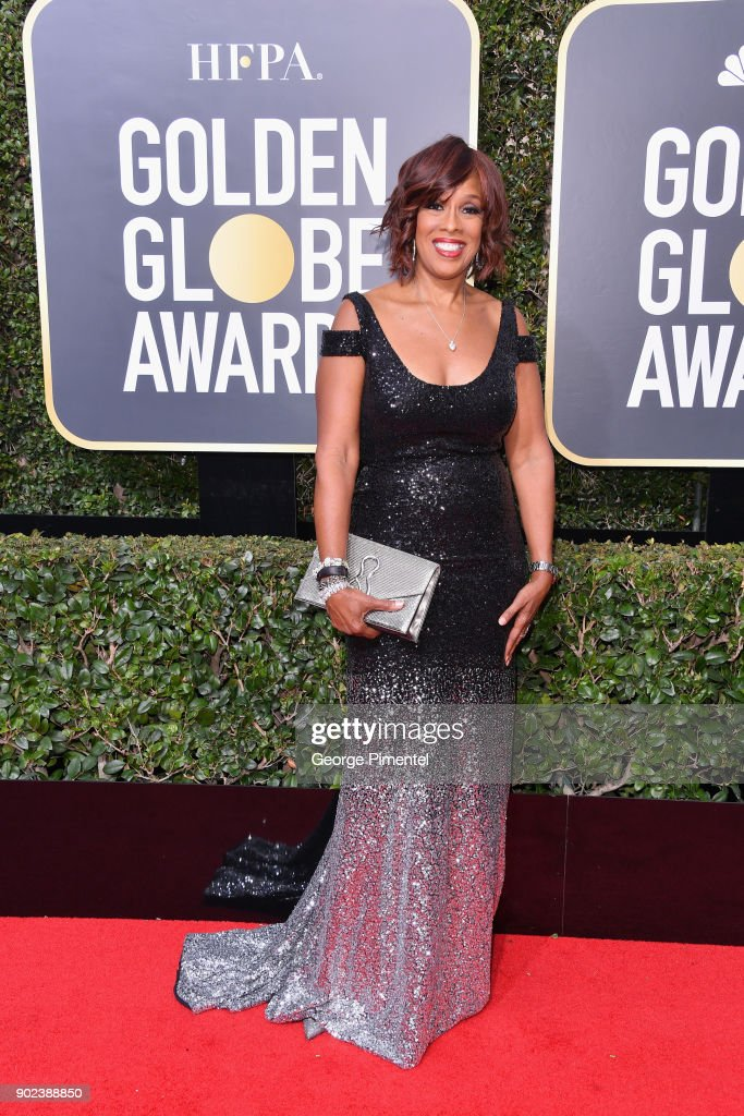 Televison personality Gayle King attends The 75th Annual Golden Globe Awards at The Beverly Hilton Hotel on January 7, 2018 in Beverly Hills, California.