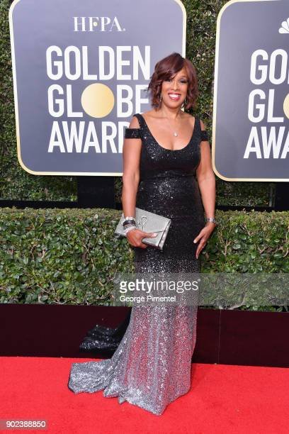 Televison personality Gayle King attends The 75th Annual Golden Globe Awards at The Beverly Hilton Hotel on January 7 2018 in Beverly Hills California