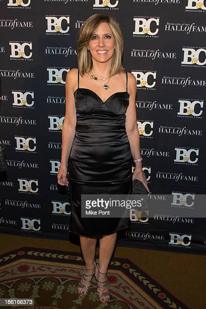 Televistion Personality Alisyn Camerota attends the Broadcasting and Cable 23rd Annual Hall of Fame Awards Dinner at The Waldorf Astoria on October...
