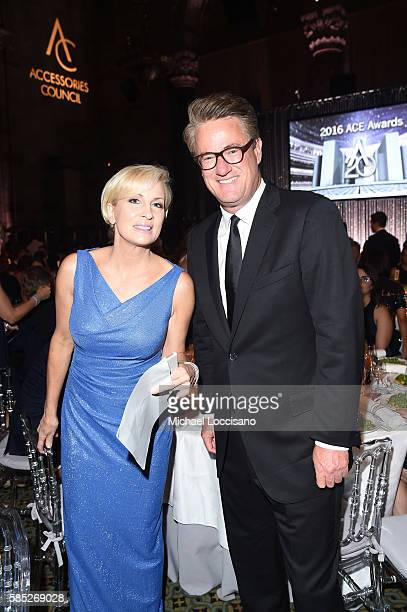 Televsion hosts Mika Brzezinski and Joe Scarborough attend the Accessories Council 20th Anniversary celebration of the ACE awards at Cipriani 42nd...