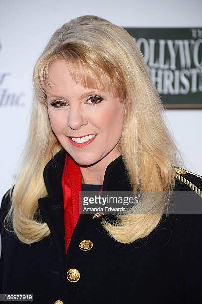Televsion personality Laura McKenzie arrives at the 2012 Hollywood Christmas Parade Benefiting Marine Toys For Tots on November 25 2012 in Hollywood...