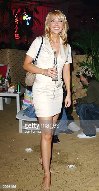 Televsion presenter Alex Lovell attends the afterparty for the opening of the new Kings Road Diesel Store on June 18 2003 at The Sheperds Bush...