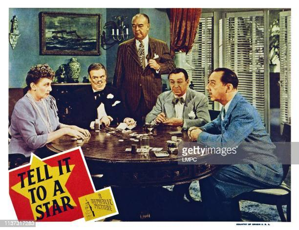 Tell It To A Star US lobbycard from left Isabel Randolph Alan Mowbray William B Davidson Eddie Marr Franklin Pangborn 1945