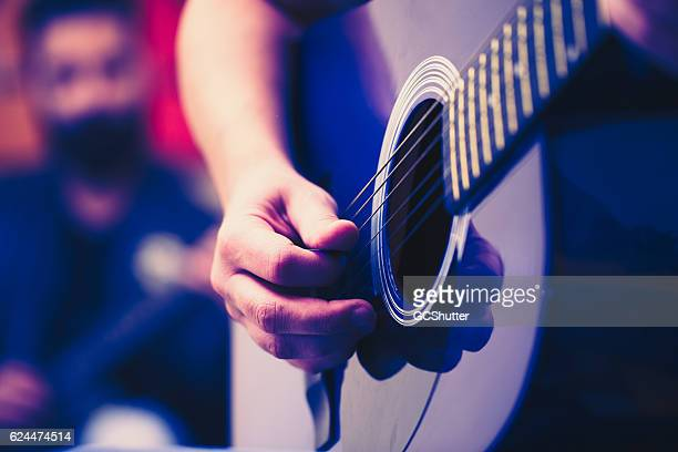 tell me if i go off key please. - acoustic guitar stock pictures, royalty-free photos & images