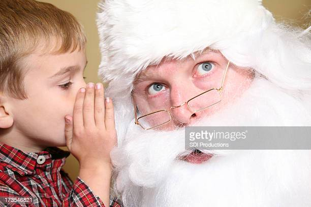 telling santa what you want - santa face stock pictures, royalty-free photos & images