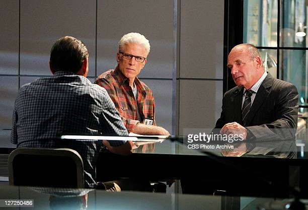 """Tell-Tale Hearts"""" -- Things are serious for D.B. Russell and Captain Jim Brass as they both interview a suspect, on CSI: CRIME SCENE INVESTIGATION,..."""