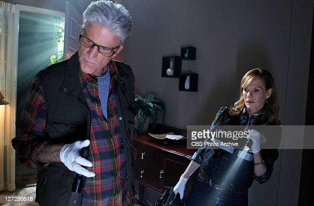 """Tell-Tale Hearts"""" -- Time is of the essence for D.B. Russell and Catherine Willows as they search for clues, on CSI: CRIME SCENE INVESTIGATION,..."""