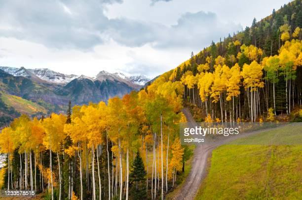 telluride colorado no outono - colorado - fotografias e filmes do acervo