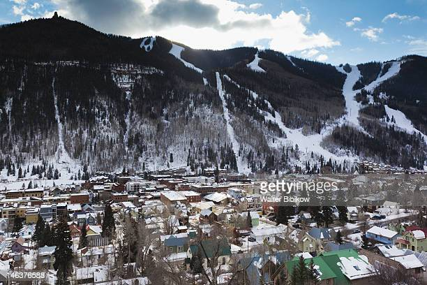 Telluride, elevated town view