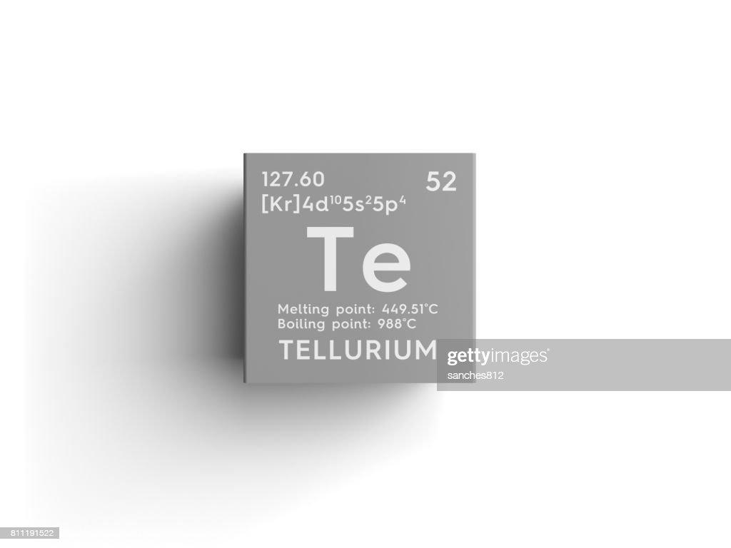 Tellurium Metalloids Chemical Element Of Mendeleevs Periodic Table