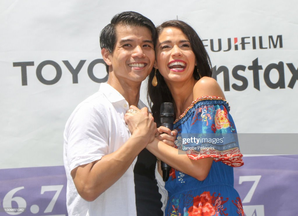 Telly Leung and Arielle Jacobs from the cast of