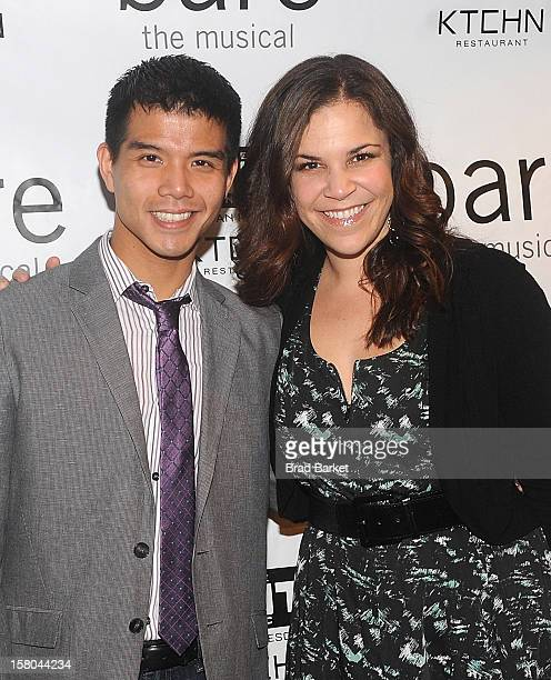 Telly Leung and Singer Lindsay Mendez attends BARE The Musical Opening Night at New World Stages on December 9 2012 in New York City