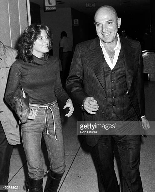 Telly Savalas and Julie Hovland sighted on March 3 1978 at the Los Angeles International Airport in Los Angeles California