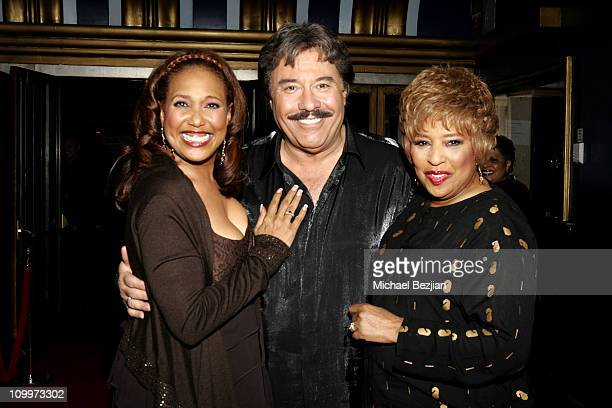 Telma Hopkins Tony Orlando and Joyce Vincent during weSPARKLE Variety Hour Benefiting weSPARK at Henry Fonda Theatre in Los Angeles California United...