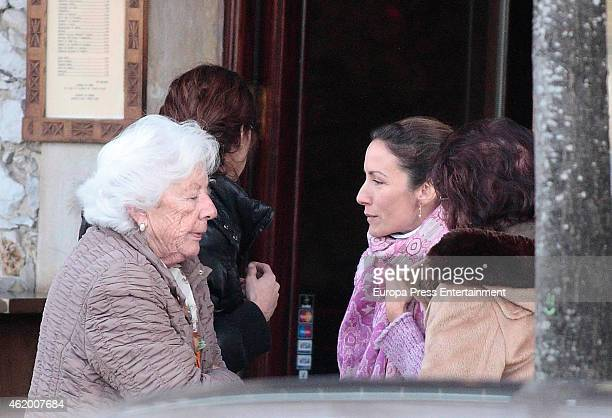 Telma Ortiz and her granmother Menchu Alvarez del Valle are seen on January 02 2015 in Ribadesella Spain