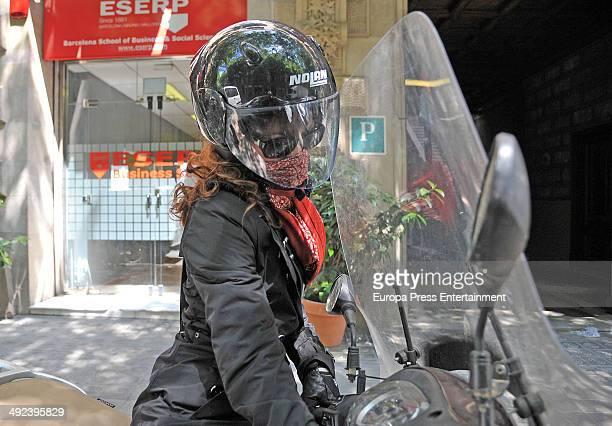 Telma Ortiz is seen on April 30 2014 in Barcelona Spain