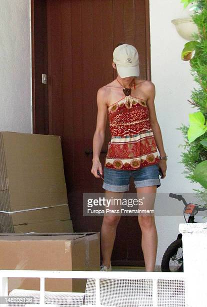 Telma Ortiz prepares her moving on June 20 2012 in Barcelona Spain