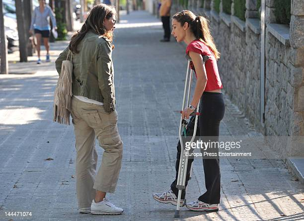 Telma Ortiz Princess Letizia's sister is seen after her secret wedding with Jaime del Burgo on 11th May on May 14 2012 in Barcelona Spain