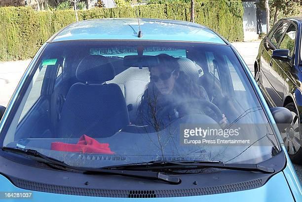 Telma Ortiz sister of Princess Letizia of Spain is seen on March 11 2013 in Barcelona Spain