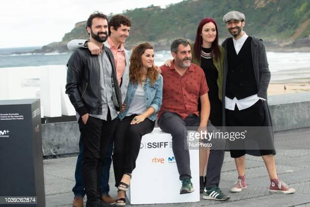 Telmo Enal Juan Antonio Urbeltz Koldobika Jauregi attends the 'Dantza' photocall during the 66th San Sebastian International Film Festival on...