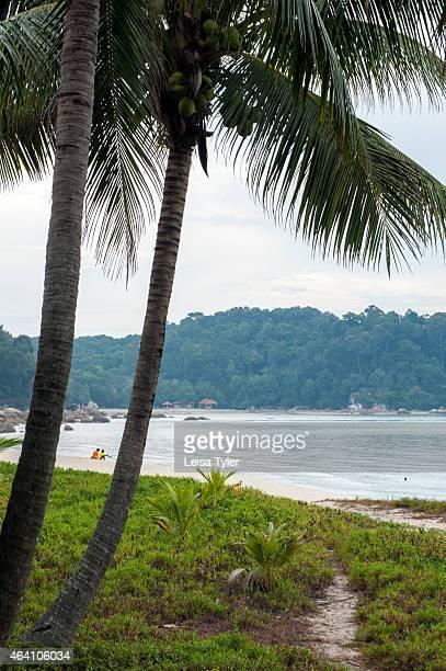 Telok Chempedak beach in front of the Hyatt Regency in the town of Kuantan on peninsular Malaysia's east coast a predominantly Muslim Malay inhabited...