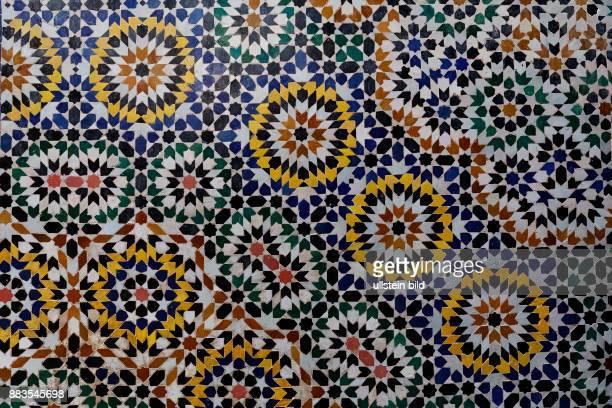 Telouet, Marokko, Kasbah, Detail, Mosaik < englisch> Telouet, Morocco, Kasbah