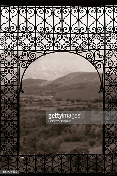 telouet window - moroccan culture stock photos and pictures