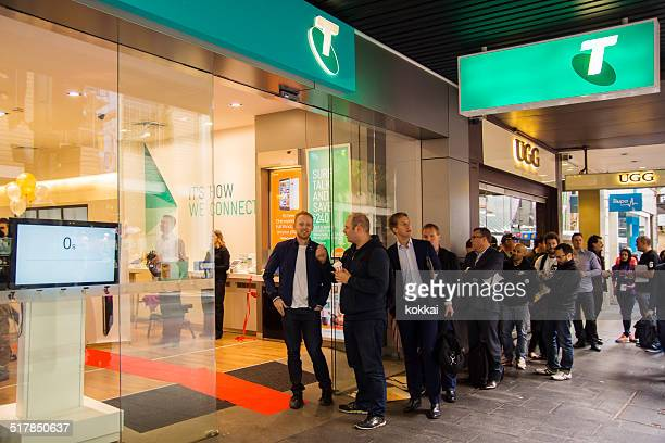 telstra store - entrance sign stock photos and pictures