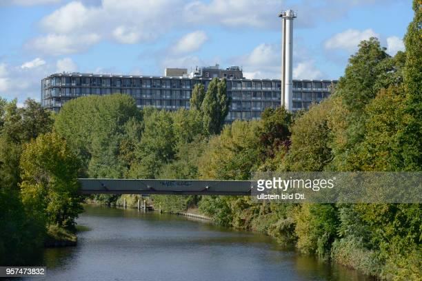 Teltowkanal, Charite, Campus Benjamin Franklin, Hindenburgdamm, Steglitz, Berlin, Deutschland