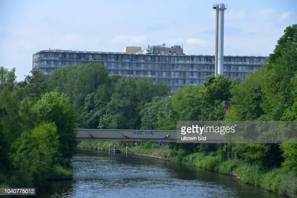 Teltowkanal, Krankenhaus Benjamin Franklin, Lichterfelde, Steglitz-Zehlendorf, Berlin, Deutschland