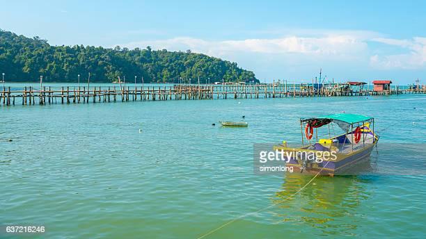 Teluk Bahang fishing village. Penang,Malaysia