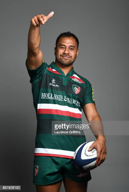 Telusa Veainu of Leicester Tigers poses for a portrait during the squad photo call for the 20172018 Aviva Premiership Rugby season at Welford Road on...