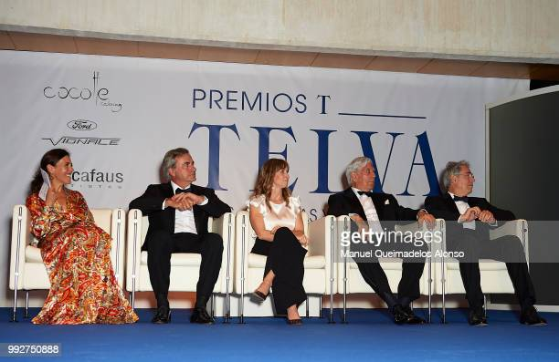Telva magazine director Olga Ruiz Carlos Sainz Maite Mendioroz Mario Vargas LLosa and Telva magazine president Antonio FernandezGaliano attend Arts...