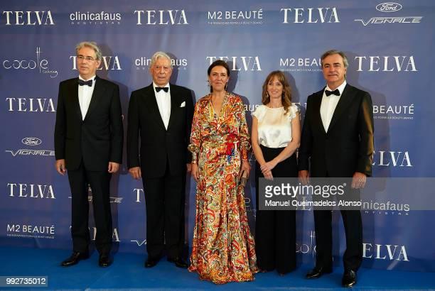 Telva magazine president Antonio FernandezGaliano Mario Vargas Llosa Telva magazine director Olga Ruiz Maite Mendioroz and Carlos Sainz attend Arts...