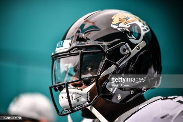 Telvin Smith of the Jacksonville Jaguars before the game against the Miami Dolphins at Hard Rock Stadium on December 23 2018 in Miami Florida