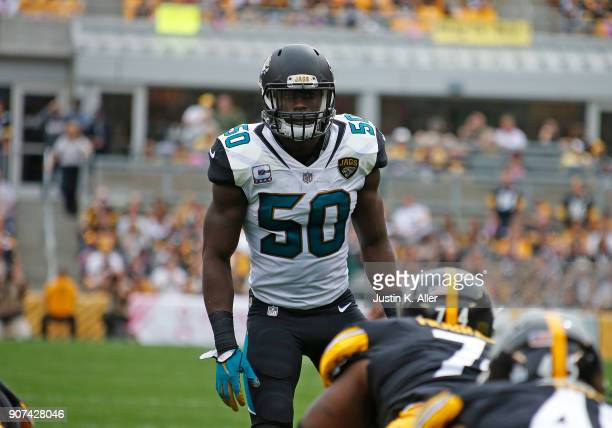Telvin Smith of the Jacksonville Jaguars in action against the Pittsburgh Steelers on October 8 2017 at Heinz Field in Pittsburgh Pennsylvania