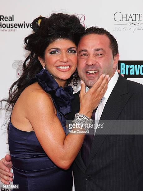 Telvision personality Teresa Giudice and husband Joe Giudice attend Bravo's 'The Real Housewives of New Jersey' season two premiere at The Brownstone...