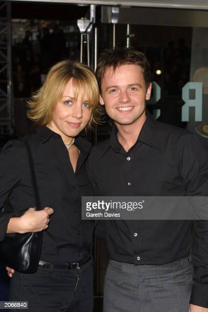 Telvision presenter Declan Donnelly and girlfriend actress Clare Buckfield attend the world premiere of 'Harry Potter and the Philosopher's Stone' at...