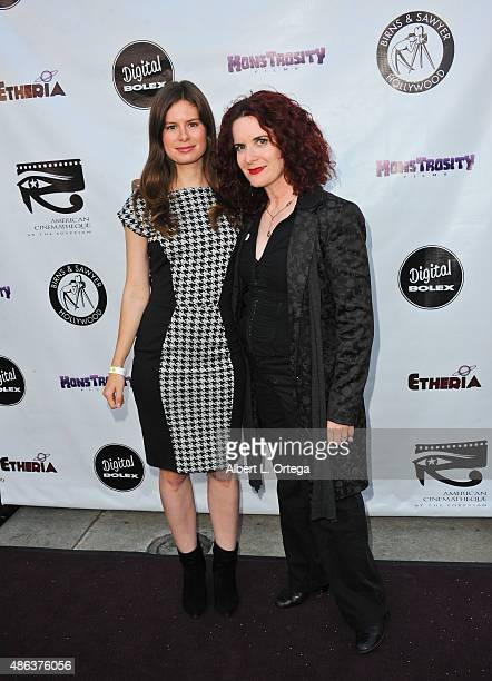 Tema Staig and Elle Schneider arrives for the Etheria Film Night 2015 held at American Cinematheque's Egyptian Theatre on June 13 2015 in Hollywood...