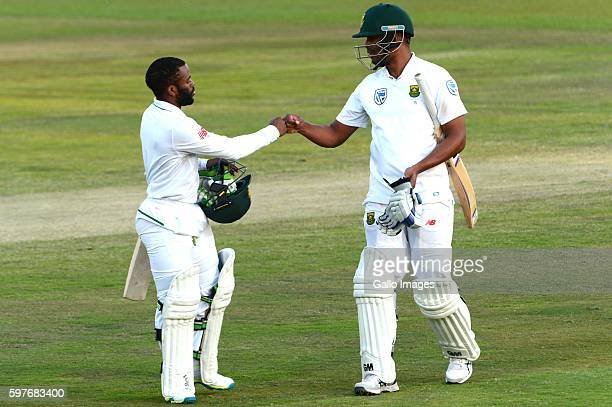 Temba Bavuma and Vernon Philander of the Proteas during day 3 of the 2nd Sunfoil International Test match between South Africa and New Zealand at...