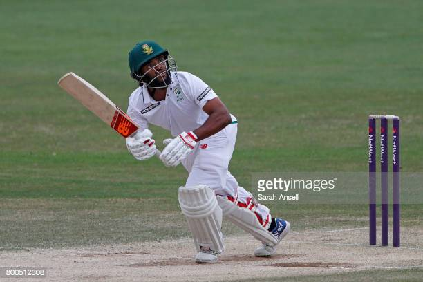 Temba Bavuma of South Africa A hits out during day 4 of the match between England Lions and South Africa A at The Spitfire Ground on June 24 2017 in...